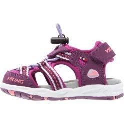 Viking THRILL Sandały trekkingowe plum/dark pink. Czerwone sandały chłopięce Viking, z materiału. W wyprzedaży za 148,85 zł.