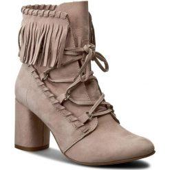 Botki EVA MINGE - Isabell 1E 17SM1372112ES 203. Brązowe buty zimowe damskie Eva Minge, ze skóry, na obcasie. W wyprzedaży za 229,00 zł.