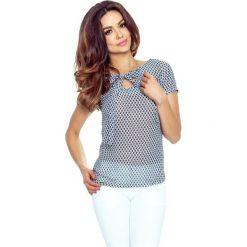 Bluzki asymetryczne: ILONA - wygodna i elegancka bluzka romby szary