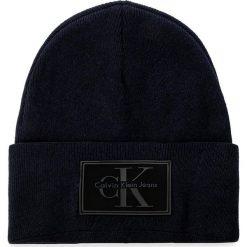 Czapka CALVIN KLEIN JEANS - J Re-Issue Beanie K50K503426 423. Szare czapki damskie marki Calvin Klein Jeans, na zimę, z jeansu. W wyprzedaży za 169,00 zł.