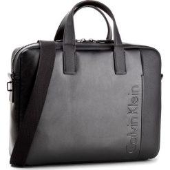 Torba na laptopa CALVIN KLEIN - Elevated Logo Slim L K50K503613 001. Czarne torby na laptopa Calvin Klein, ze skóry ekologicznej. W wyprzedaży za 399,00 zł.