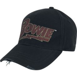 David Bowie Flash Logo Czapka baseballowa czarny. Czarne czapki zimowe damskie David Bowie, z aplikacjami. Za 69,90 zł.