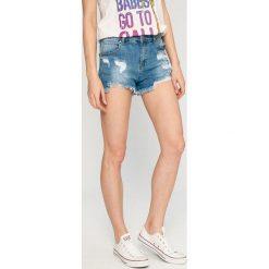 Answear - Szorty Wild Nature. Szare szorty jeansowe damskie marki ANSWEAR, casualowe, z podwyższonym stanem. W wyprzedaży za 89,90 zł.
