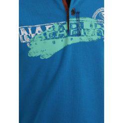 Napapijri ENI Koszulka polo turquoise. Szare bluzki dziewczęce bawełniane marki Napapijri, l, z kapturem. Za 189,00 zł.
