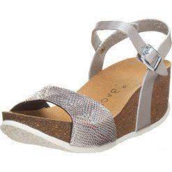 Buty damskie: Sandały w kolorze srebrnym