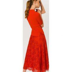 Długie spódnice: IVY & OAK LACE MIDI SKIRT Długa spódnica pumpkin red