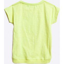 Blue Seven - Top dziecięcy 92-128 cm. Niebieskie bluzki dziewczęce Blue Seven, z nadrukiem, z bawełny, z okrągłym kołnierzem, z krótkim rękawem. W wyprzedaży za 14,90 zł.