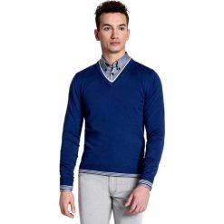 Sweter DARIO 15-22SR. Czarne swetry klasyczne męskie marki Giacomo Conti, m, z bawełny, z klasycznym kołnierzykiem. Za 149,00 zł.