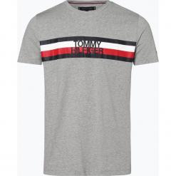 Tommy Hilfiger - T-shirt męski, szary. Szare t-shirty męskie z nadrukiem marki TOMMY HILFIGER, z bawełny. Za 139,95 zł.