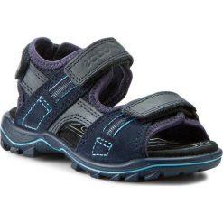 Sandały ECCO - Urban Safari Kids 73216250595 Marine/Marine. Niebieskie sandały męskie skórzane marki ecco. Za 299,90 zł.