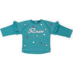 Bluza w kolorze turkusowym. Niebieskie bluzy dziewczęce rozpinane marki Street Monkey, z bawełny. W wyprzedaży za 49,95 zł.