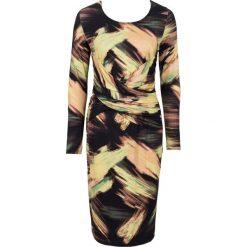 Sukienki: Sukienka bonprix brązowo-zielono-żółty