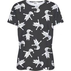 Colour Pleasure Koszulka damska CP-030 293 czarno-biała r. XXXL/XXXXL. Białe bluzki damskie Colour pleasure. Za 70,35 zł.