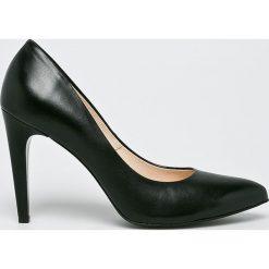 Wojas - Szpilki. Czarne szpilki marki Elisabetta Franchi, eleganckie, na obcasie. W wyprzedaży za 239,90 zł.