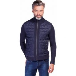 Sweter AROLDO SWGR000152. Niebieskie swetry rozpinane męskie marki Giacomo Conti, m, z tkaniny, klasyczne. Za 499,00 zł.