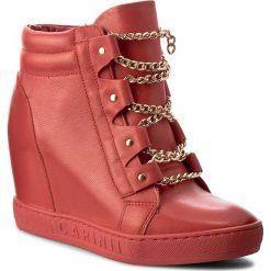 Sneakersy CARINII - B3878 H54-000-000-B88. Czerwone sneakersy damskie Carinii, z materiału. W wyprzedaży za 249,00 zł.