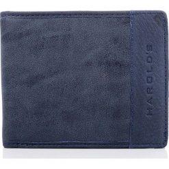 Portfele męskie: Granatowy skórzany portfel męski DESTIN HAROLD'S