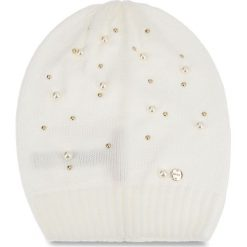 Czapka LIU JO - Cappello Maglia Perl N68251 M0300 Bianco Iana 00086. Białe czapki damskie Liu Jo, z materiału. Za 199,00 zł.