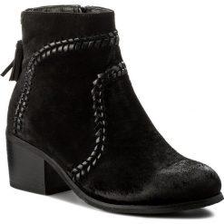 Botki JENNY FAIRY - WS16352-13 Czarny. Czarne buty zimowe damskie Jenny Fairy, z materiału, na obcasie. Za 129,99 zł.