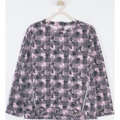Bluza. Szare bluzy dziewczęce z nadrukiem MAGICAL, z bawełny, z długim rękawem, długie. Za 85,90 zł.