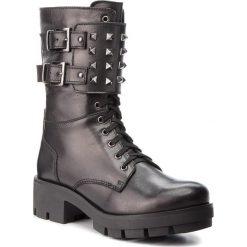 Trapery EVA MINGE - Arancon 4A 18DP1372519EF 101. Czarne buty zimowe damskie Eva Minge, ze skóry. W wyprzedaży za 329,00 zł.