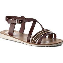 Rzymianki damskie: Sandały PORRONET – WP0-2207 Brązowy Ciemny