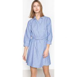Długie sukienki: Rozszerzana, rozkloszowana sukienka z nadrukiem, półdługa