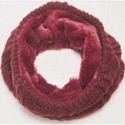 Komin z łączonych materiałów - Bordowy. Czerwone szaliki damskie marki House, z materiału. Za 49,99 zł.