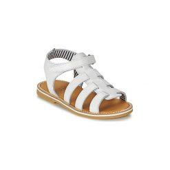 Sandały Dziecko  Petit Bateau  NUT. Czerwone sandały dziewczęce marki Born2be, z materiału, z otwartym noskiem, na zamek. Za 223,30 zł.