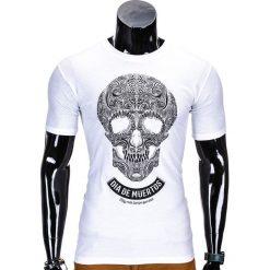 T-shirty męskie z nadrukiem: T-SHIRT MĘSKI Z NADRUKIEM S611 – BIAŁY