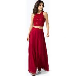 Swing - Damska sukienka wieczorowa, czerwony. Czerwone długie sukienki marki Swing, w koronkowe wzory, z koronki, wizytowe, z długim rękawem. Za 749,95 zł.