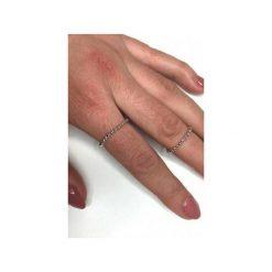 Obrączki: Srebrny pozłacany pierścionek obrączka z kulek