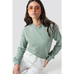 NA-KD Basic Bluza basic - Green. Zielone bluzy rozpinane damskie NA-KD Basic, prążkowane. Za 100,95 zł.