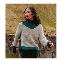 Sweter z domieszką wełny. Szare swetry oversize damskie marki Promod, z tkaniny. Za 84,50 zł.