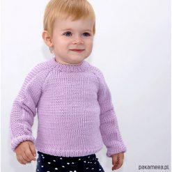 Sweter z lampasem Merynos Dziecięcy. Różowe swetry chłopięce Pakamera, z wełny. Za 249,00 zł.