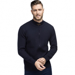 Sweter ISACCO SWGR000227. Brązowe swetry rozpinane męskie Giacomo Conti, na jesień, m, z bawełny. Za 199,00 zł.