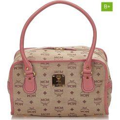 Torebki klasyczne damskie: Skórzana torebka w kolorze beżowym – 26 x 13 x 10 cm