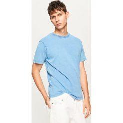 T-shirty męskie: T-shirt ze spranej bawełny – Niebieski