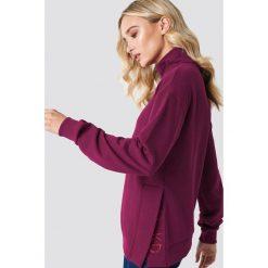 Bluzy damskie: NA-KD Trend Bluza z rozcięciami – Red