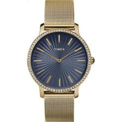 Zegarki damskie: Zegarek Timex Damski TW2R50600 Metropolitan 34 Slim Gold