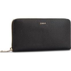 Duży Portfel Damski DKNY - Lg Zip Around R831A658 Blk/Gold BGD. Czarne portfele damskie DKNY, ze skóry. Za 639,00 zł.