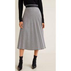 Mango - Spódnica Pleat. Szare spódniczki plisowane damskie Mango, m, z elastanu, midi. Za 199,90 zł.