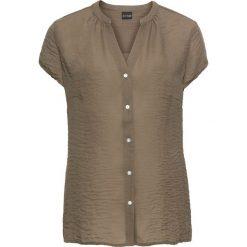 Bluzka szyfonowa bonprix zielony khaki. Zielone bluzki z odkrytymi ramionami marki bonprix, z szyfonu. Za 54,99 zł.