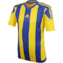 Adidas Koszulka piłkarska męska Striped 15 granatowo-żółta r. L (S16142). Żółte koszulki sportowe męskie marki ATORKA, xs, z elastanu. Za 99,90 zł.