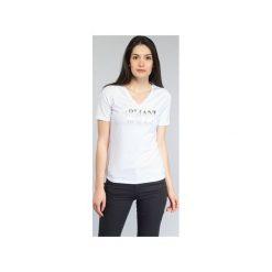 T-shirty z krótkim rękawem Armani jeans  JAGONA. Czarne t-shirty damskie marki Armani Jeans, z jeansu. Za 303,20 zł.