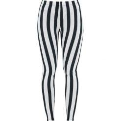 Spodnie damskie: Black and White Checked Leggings Legginsy czarny/biały