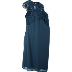 Sukienka ciążowa na uroczyste okazje bonprix ciemnoniebieski. Niebieskie sukienki ciążowe bonprix, z koronki. Za 149,99 zł.