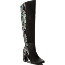 Kozaki ROBERTO - 589 Czarny Nubuk/Czarny Orient. Czarne buty zimowe damskie marki Kazar, ze skóry, na wysokim obcasie. W wyprzedaży za 349,00 zł.