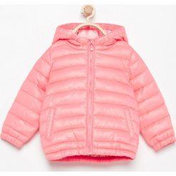 Pikowana kurtka z kapturem - Różowy. Różowe kurtki damskie pikowane marki COCCODRILLO, z poliesteru. Za 299,99 zł.