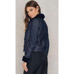 Bomberki damskie: 2NDDAY Dżinsowa kurtka z futerkiem - Blue